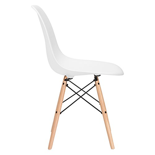 Poly and Bark EM-105-NAT-WHI-A Vortex Side Chair, White