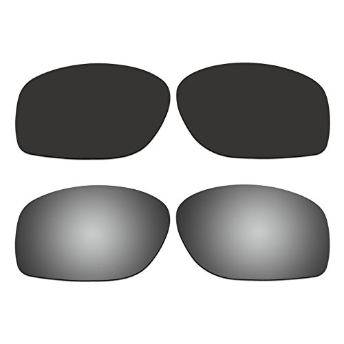 ACOMPATIBLE 2 Pair Replacement Polarized Lenses for Oakley Conductor 8 Sunglasses OO4107 Pack P5