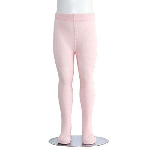 Tights Cotton Heavyweight (Light Pink Piccolo Heavyweight Opaque Little Girls Tights 4-6X)