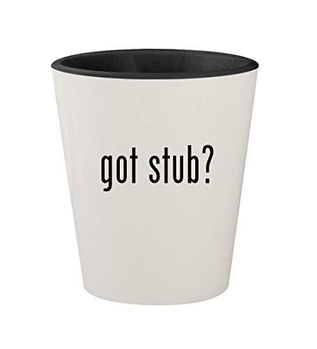 got stub? - Ceramic White Outer & Black Inner 1.5oz Shot Glass