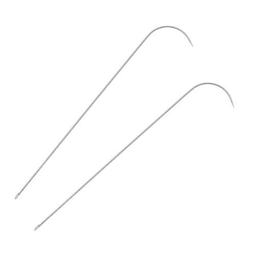 Curved Bead - Beadsmith 2-Piece Curved Needles Set for Spin and String Bead Loader Stringing Tool