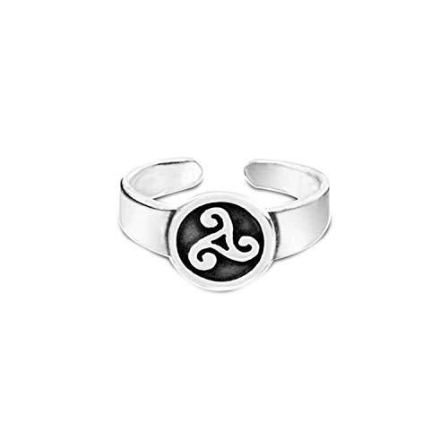 Toe Ring 14k Celtic (jsjewels Women's 14K White Gold Over .925 Sterling Silver Chic Celtic Adjustable Toe Ring)