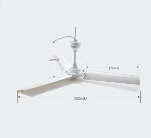 Large ceiling fan Home fan plastic clover hanging Living room dining room ceiling fan Large wind power timer Large fan 900mm