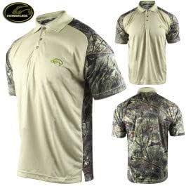 Walleye//Black Fishouflage Angler Performance Camp Shirt M