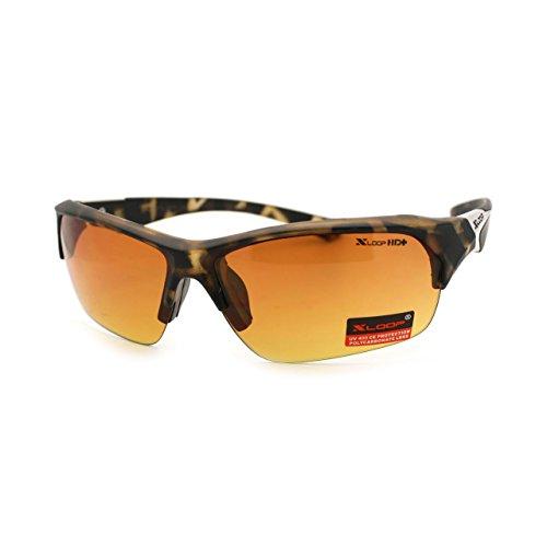 X-loop Baseball Half Rim Sport HD High Definition Lens Sunglasses - X Sunglasses Sunglasses Hd Loop