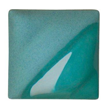 AMACO Velvet Lead-Free Non-Toxic Semi-Translucent Underglaze, 1 Pint, Turquoise Blue V-327