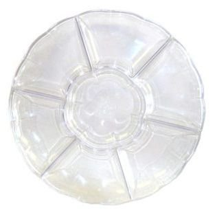 Compartment Tray 16-inch Clear Plastic -