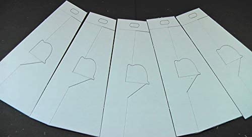 A Pack of 5 White Showcard Backing Struts 340mm
