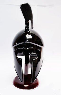 Corinthian Helmet with Black Plume By Nauticalmart by NAUTICALMART