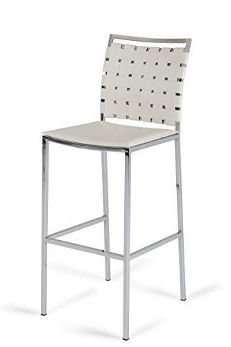 - Limari Home The Pierre Collection Modern Style Eco-Leather Upholstered Kitchen Dining Room Bar Stool (Set of 2), White