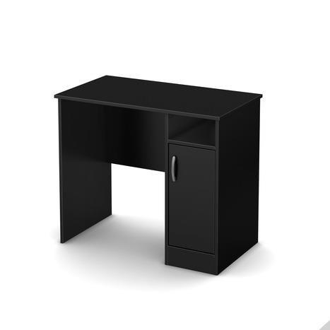 South Shore Axess Work Desk, Small, Pure Black Black Kids Computer Desk