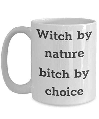 Funny Little Witch Academia Mug Witch By Nature Bitch By Choice Gift Idea For Women Men Granddaughters Wicked Good Wizard Of Oz Witchy Witchcraft Girls 11 ounce or 15oz Novelty Coffee Tea Cup]()