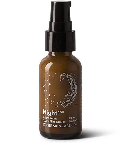 Night - Pure 0.25% Retinol 3% Niacinamide Vitamin A B C E Skin Clearing Anti Aging Complex Night Cream. 49% Organic & Vegan for Face, Men & Women 1 oz