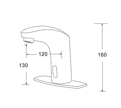 Dyconn Faucet Nelson Hands/Touch Free Motion Sensor Bathroom Faucet,Brushed Nickel