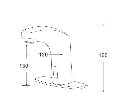 Polished Chrome Dyconn Faucet HF1H23-CHR Peace Hands//Touch Free Motion Sensor Bathroom Faucet