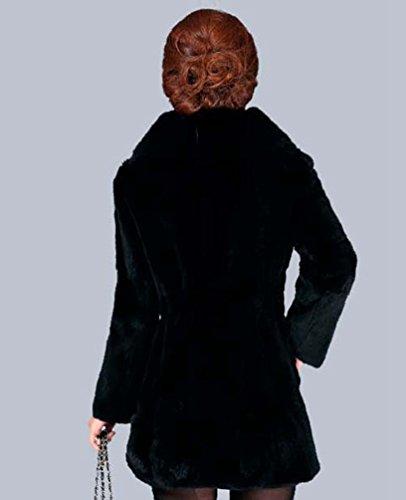 Fausse 1 En Parka Hiver Fourrure Chaud Manteau Blouson Femmes Noir Chengyang Manteaux Veste OISwtq7B7x