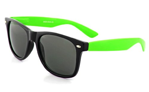 MJ Boutique's Black & Green Two Tone Sunglasses Dark - Sunglasses Boutique