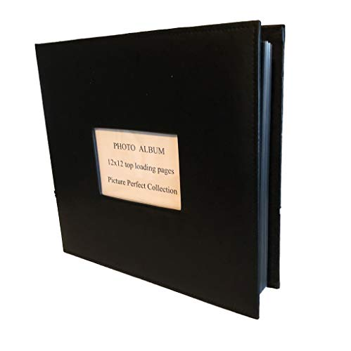 (Photo Album 12 x 12 Scrapbook top Loading Post Bound Album 50 Pages 4x6 Cover)