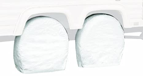 Classic Accessories 76280 RV Wheel Cover, Pair, White, 36' - 39' Wheel Diameter 36 - 39 Wheel Diameter