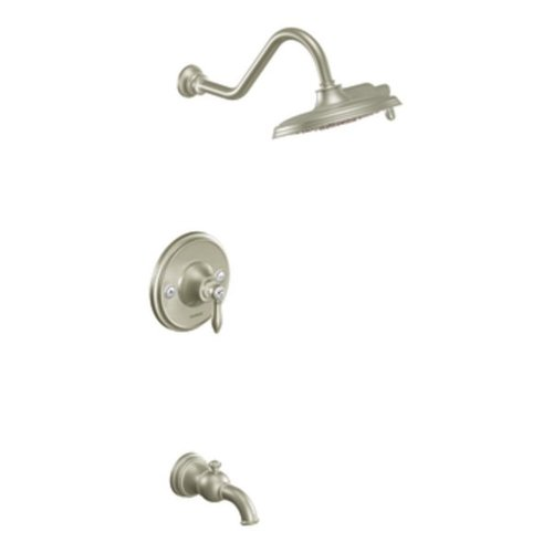 Toilet Brushed Lever Nickel (Moen TS32104BN Weymouth Posi-Temp Tub/Shower Trim Kit without Valve, Brushed Nickel)