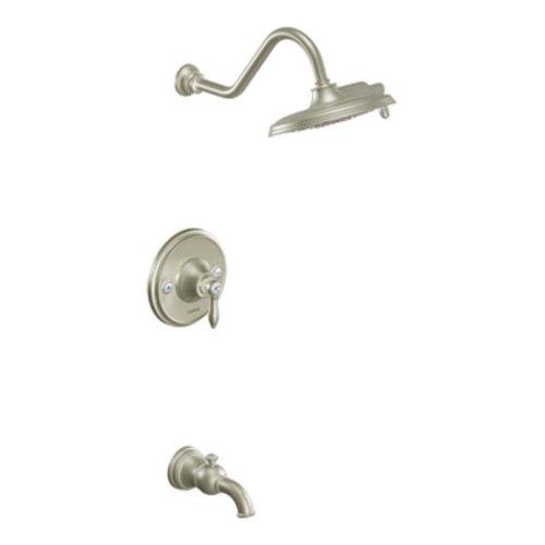 Toilet Nickel Brushed Lever (Moen TS32104BN Weymouth Posi-Temp Tub/Shower Trim Kit without Valve, Brushed Nickel)