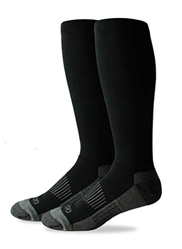 Dickies Men's Light Comfort Compression Over-The-Calf Socks, black, Sock Size: 10-13/Shoe Size: 6-12