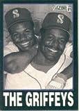 1991 Score Ken Griffey Jr./Sr. Baseball Card #841 - Shipped In Protective Display Case!