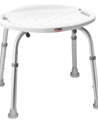 Carex Adjustable Bath and Shower Seat without Back, 1 Count