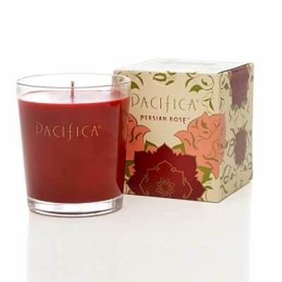 Pacifica Persian Rose 10.5 oz Soy Boxed Glass Candle