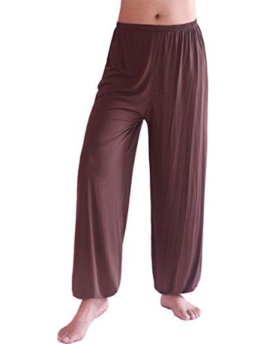 Spandex Nylon Harem Uomo Café Hoerev Pantaloni YogaPilates Super Soft 3TcF1KlJ