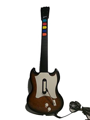 Red Ps2 Octane - Guitar Hero SG Controller - Walnut - PlayStation 2