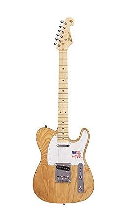 SX - Té de guitarra eléctrica con forma de baldosa en fresno natural ...