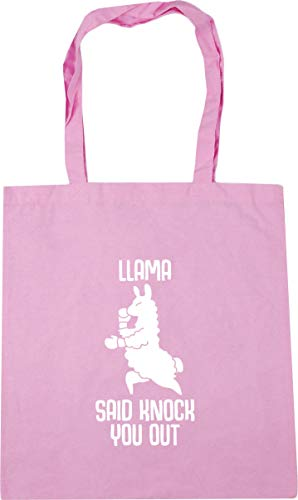 Out Knock Shopping Bag 42cm Llama Pink Beach Hippowarehouse Said Classic 10 Tote You litres Gym x38cm qIBawwH