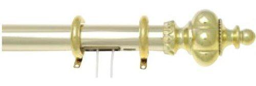 Graber 1 1 / 2インチAlexandriaトラバースロッドd-profile (84 To 156-inch調節可能幅 ndash; 真鍮  B009RNRJC8