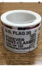 USPS Forever Stamps, Coil of 100 US Flag Postage Stamps (2016 or 2017 version) (Stamp Postage Us)