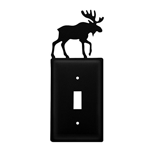 (Iron Moose Switch Cover - Black Metal )