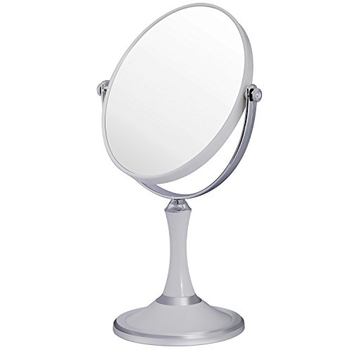 Price comparison product image 6-inch Tabletop Two-Sided Swivel Vanity Mirror with 3x Magnification, 11-inch Height, Desktop Double-sided Make-up Mirror