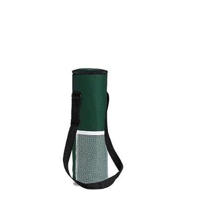 Sac isotherme pour une bouteille de 1,5 l en nylon vert/kaki - 34,5 x 10,5 cm