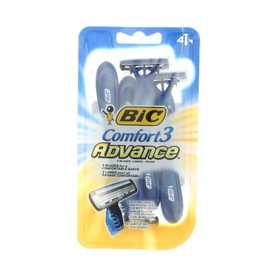BIC Comfort 3 Advance Disposable Razor, Men, 4-Count (Pack of 3) ()