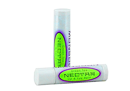 Monsoon Nectar Green Tea Lip & Eye Balm SPF: Vitamin K, comfrey leaf, helichrysum for under eye dark - Green Nectar