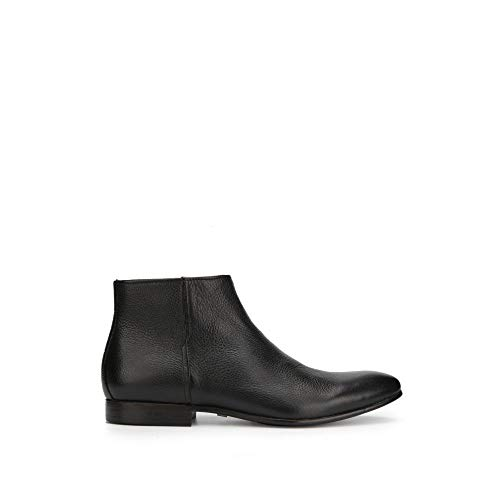 (Kenneth Cole New York Men's Mix Zip Boot Ankle, Black Tumbled Leather 11 M US)
