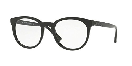 Burberry BE2250 Eyeglass Frames 3001-51 - Black BE2250-3001-51