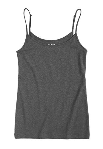 Ann Taylor LOFT Women's Cotton Stretch Clean Cami (Small, Charcoal Gray) from Ann Taylor LOFT