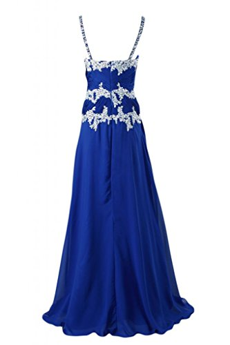 Blue da vestito elegante Sunvary cinghie Spaghetti Royal sera Sweetheart lungo pUUqzx7