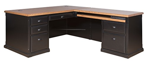 kathy ireland Home by Martin Southampton Right L-Shaped Desk (Cottage Collection Southampton)
