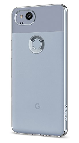 Spigen Liquid Crystal Pixel 2 Case with Light but Durable Flexible Clear TPU Protection for Google Pixel 2 (2017) - Crystal Clear - Absorbency Case