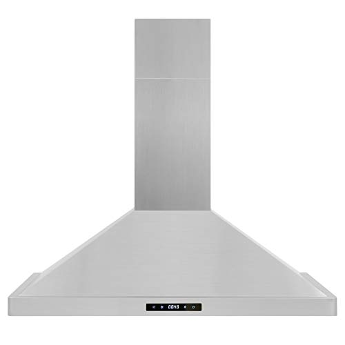 Cosmo 63190S 36 in. Wall Mount Range Hood with Soft Touch Controls, LED Lighting and Permanent Filters
