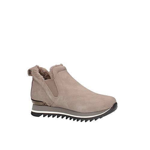 Vison Baskets Glissent Les À Femme Fourrure Chaussure Pour En Daim La Gioseppo Beige De 41099 Sur fBYvw5wxq