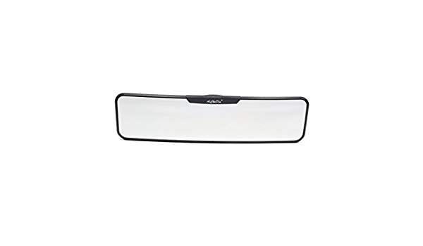uxcell 280mm Blue Glass Curved Panoramic Wide Angle Rear View Mirror for Car Interior