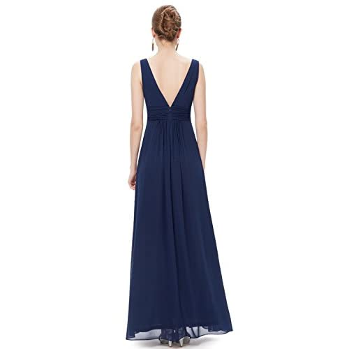 44a80bd2f77 Ever-Pretty Double V-Neck Elegant Ruched Waist Ladies Long Evening Dress  08110 50